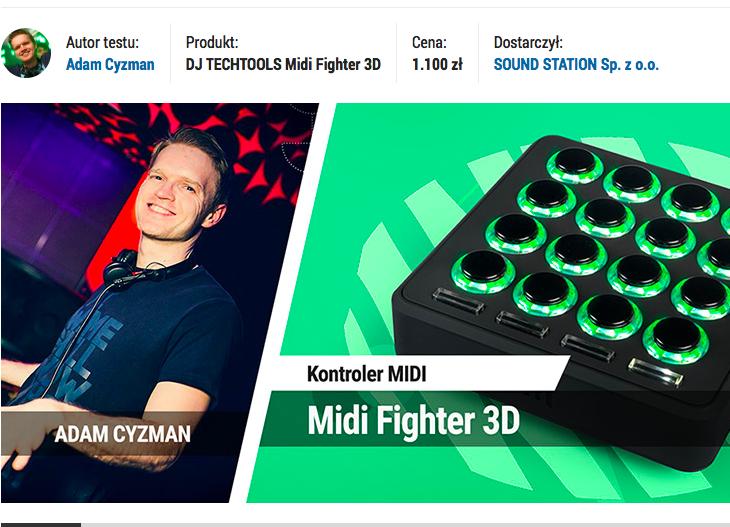 TEST MIDI FIGHTER 3D w InfoMusic!