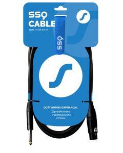 SSQ XZJM7 - kabel Jack MONO - XLR Żeński 7 metrowy