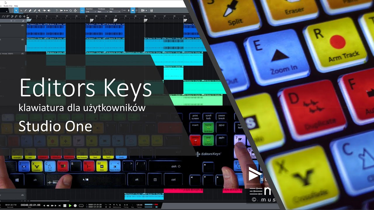 EDITORS KEYS- STUDIO ONE KEYBOARD- Skróty klawiszowe w Studio One
