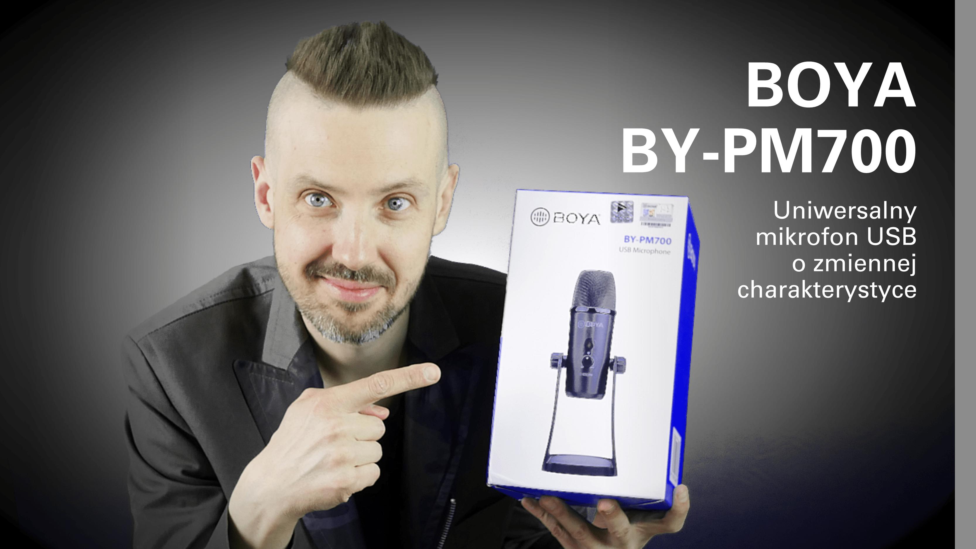 Test mikrofonu USB BOYA BY-PM700
