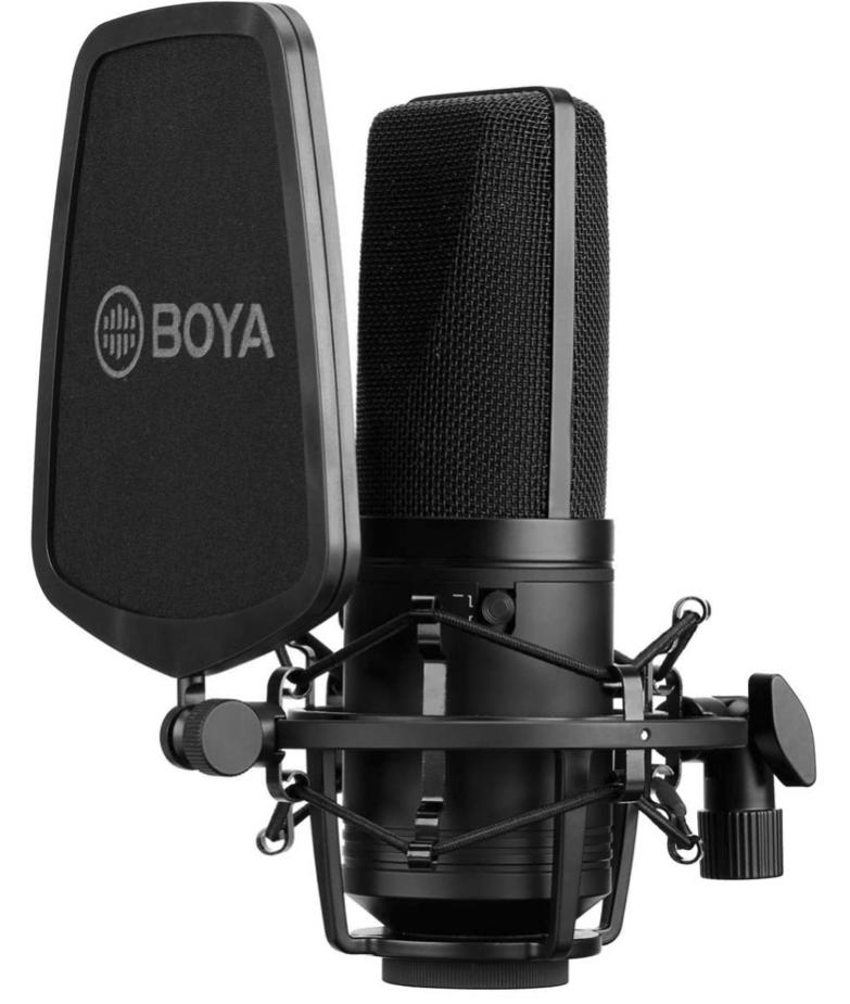 Test mikrofonu  BOYA M1000 w ESTRADA I STUDIO